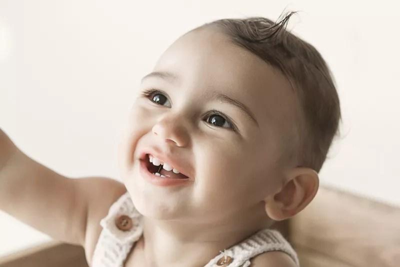 portrait bébé de 7 mois en studio photo proche paris