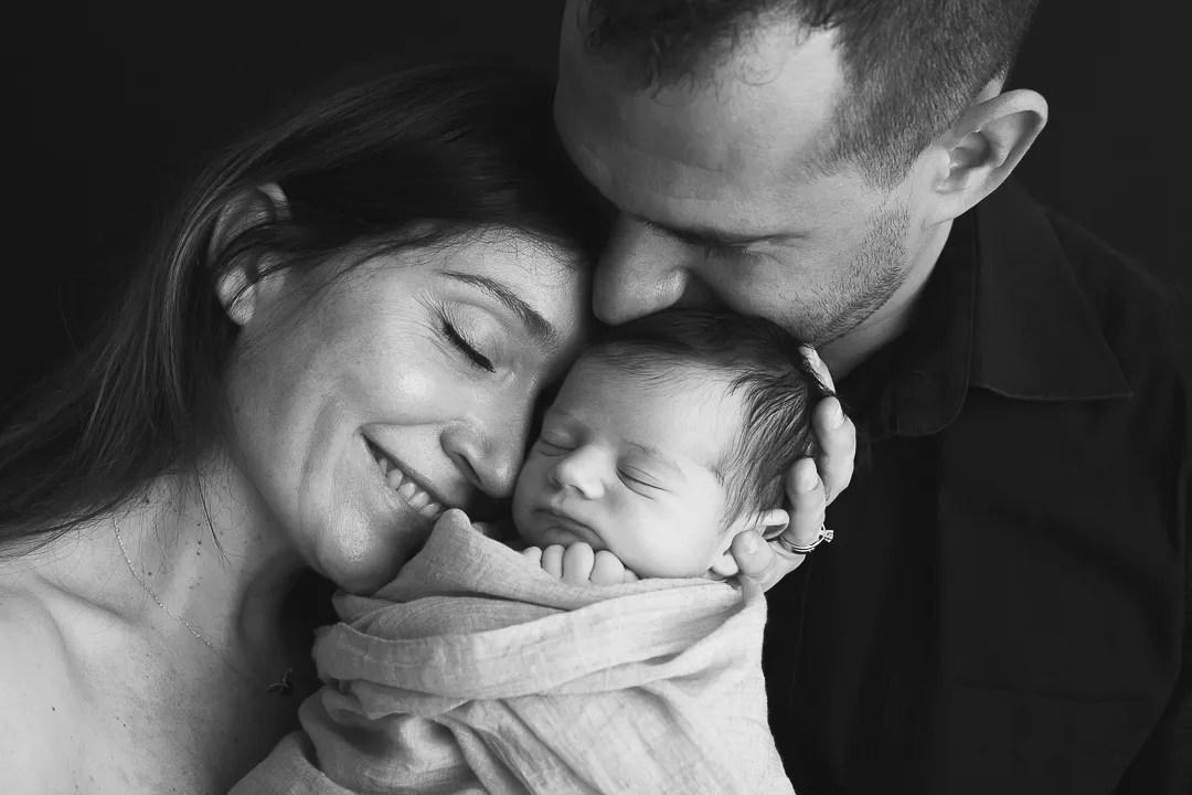 portrait famille pleine d'émotion