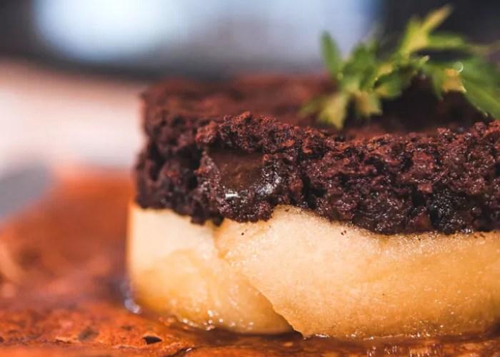 crêpes pomme boudin noir restaurant Onze paris