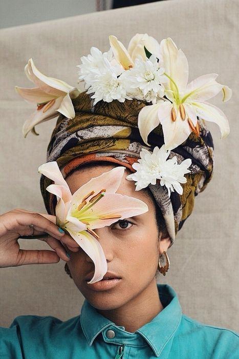 idees accessoires photo grossesse bandeau avec fleurs