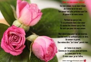 poeme d'amour romantique