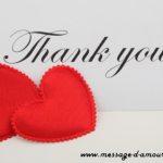 Messages pour dire merci mon amour