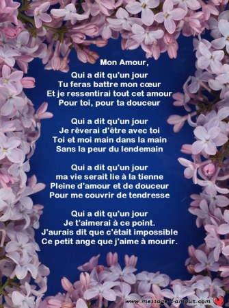 poeme saint valentin