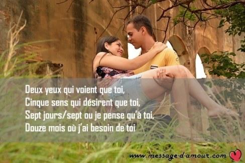 texte d'amour