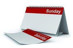 Saturday or Sunday?