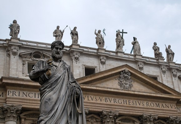 Rome with statues