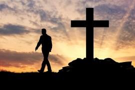 Man walking from cross