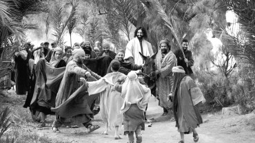 Jesus on donkey