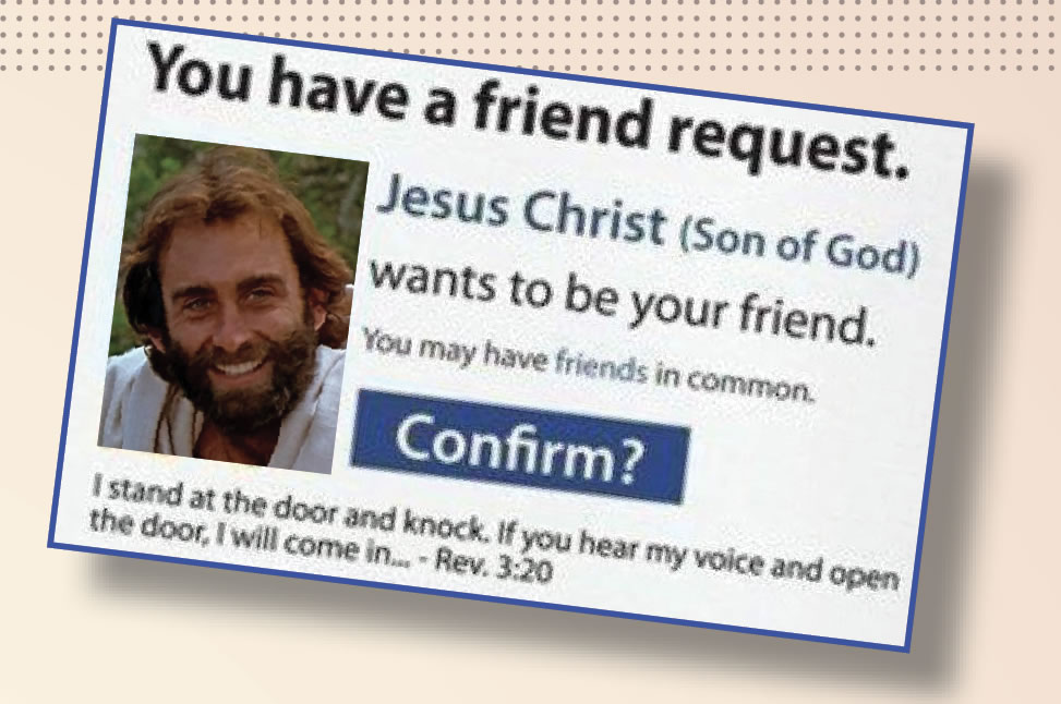 Jesus Friended on facebook
