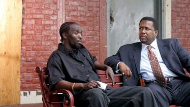 "Omar and Bunk in the HBO series ""The Wire."""