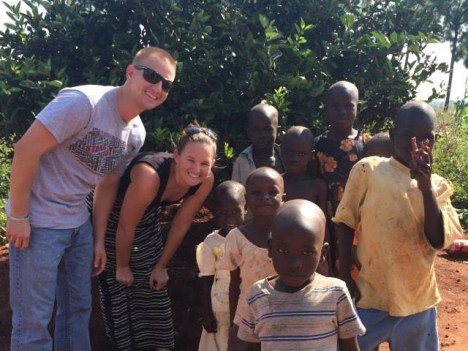 Mike and Katie Goreski sharing some time with the locals!