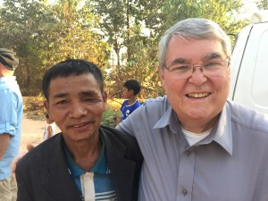 Jim Randall and a leader of the village we visited in Cambodia.