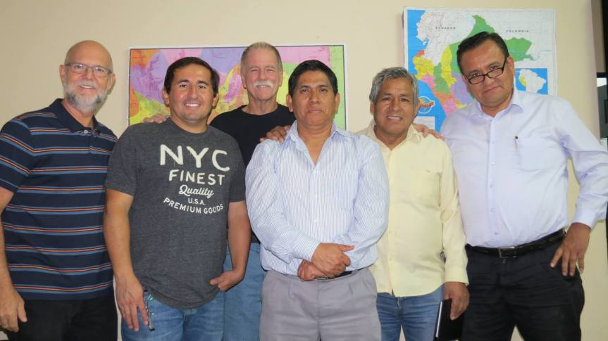 Brian, Hector, Chuck, Ps. Jose, Ps. Fabian and Ps. Gilberto in Peru.