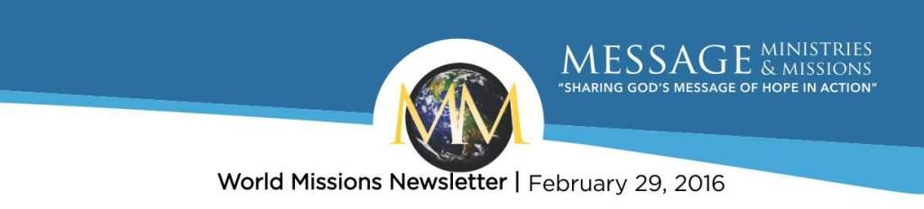 2016 February - Message Min NL Banner