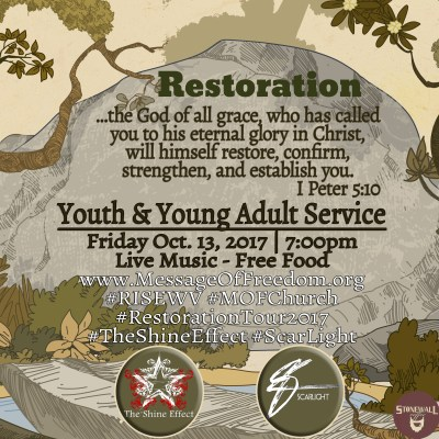 Restoration-Service-Friday-October-13-Message-of-Freedom-Church-ShineEffect-ScarLight-Square