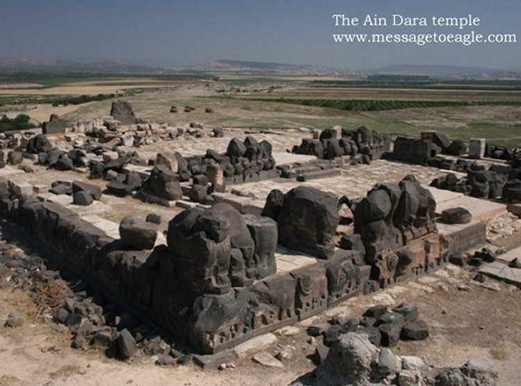 "As the Bible History Daily points out ""the similarities between the 'Ain Dara temple and the temple described in the Bible are indeed striking."