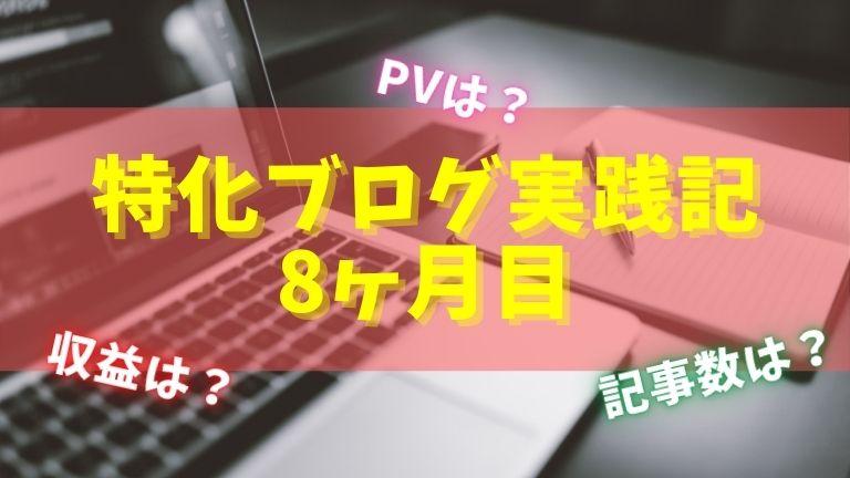 特化ブログ実践記!9ヶ月目のPV/収益/記事数まとめ!