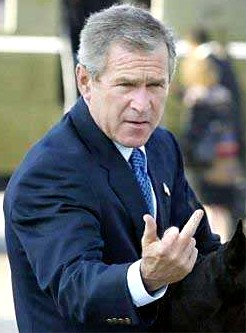 George Bush finger