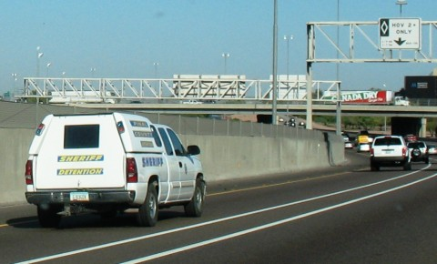 Pinal County Sherriff Detention vehicle
