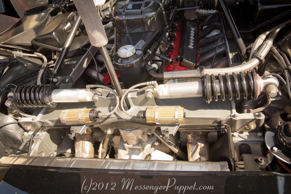 Enzo Ferrari Engine rear suspension