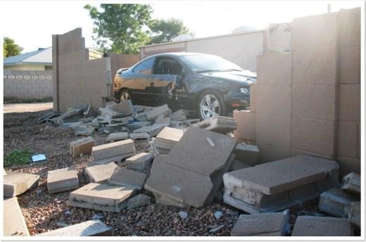 Pontiac GTO crash wall