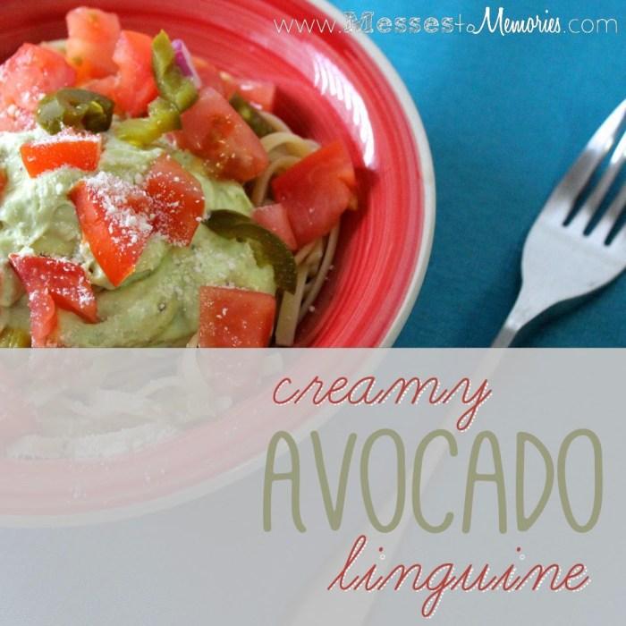 A delicious, creamy Avocado sauce with pasta