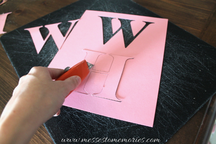 How to make a stencil for a Banner from Messes to Memories