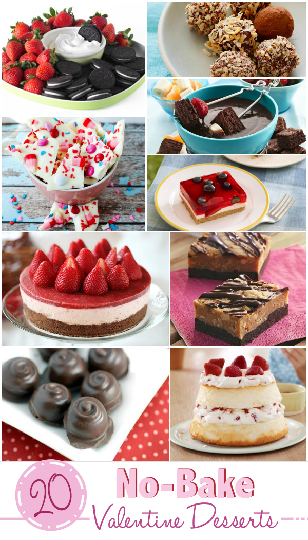 20 No Bake Valentine's Collage