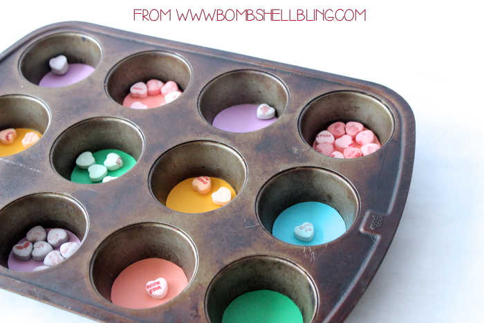 Candy Heart Sorting Activity with Muffin Tin