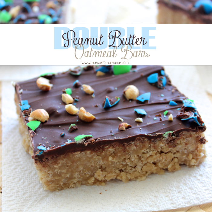 Double Peanut Butter Oatmeal Bars from Messes to Memories