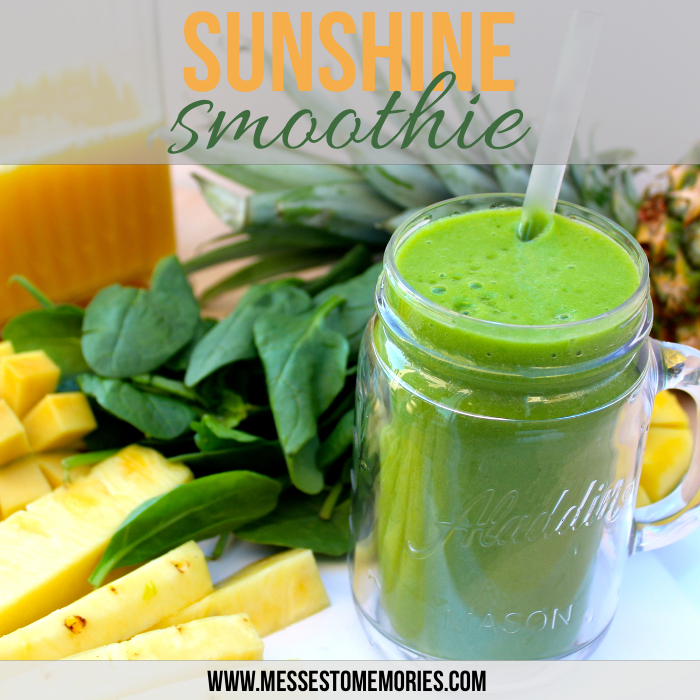 Favorite Sunshine Smoothie from Messes to Memories