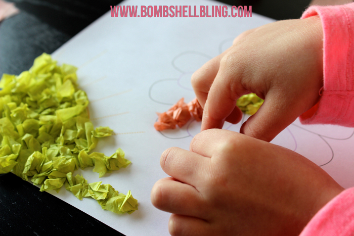 working with tissue paper