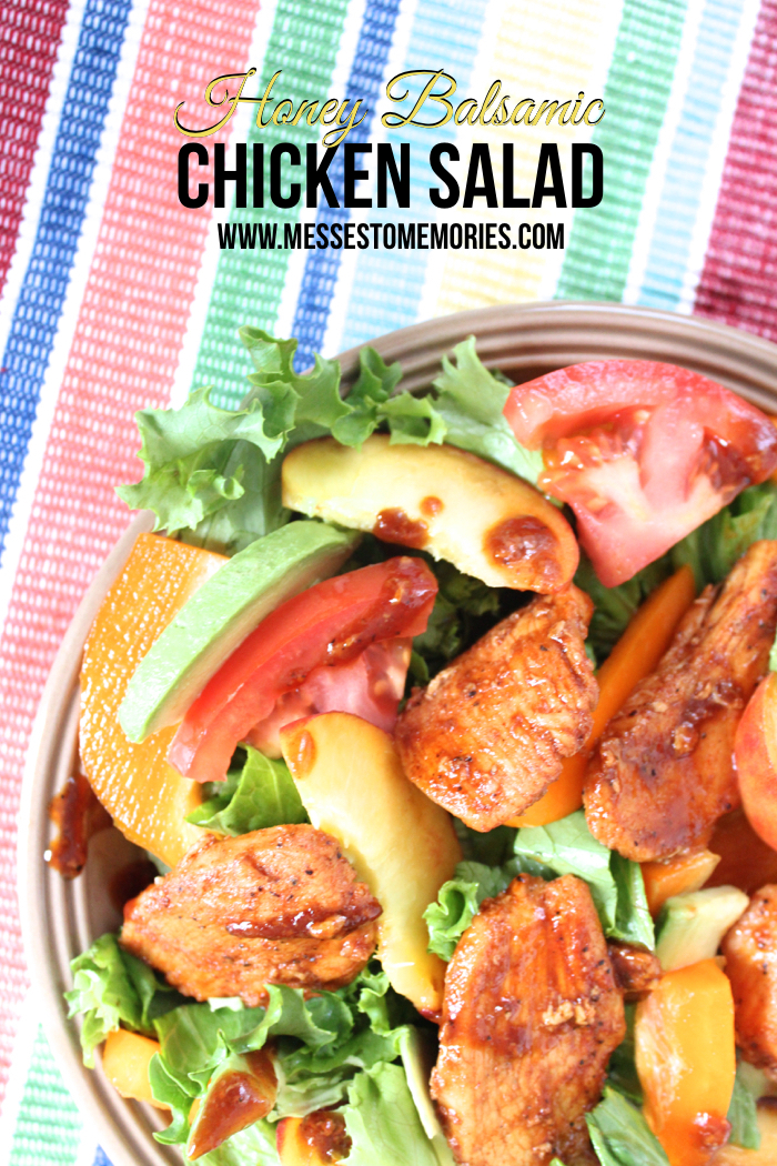 Honey Balsamic Chicken Salad from Messes to Memories