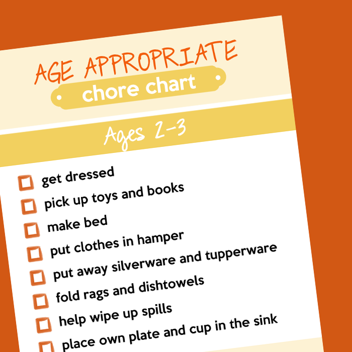 Printable Age Appropriate Chore Charts