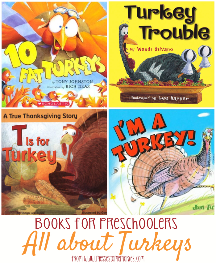 Our favorite Turkey Books for kids from Messes to Memories