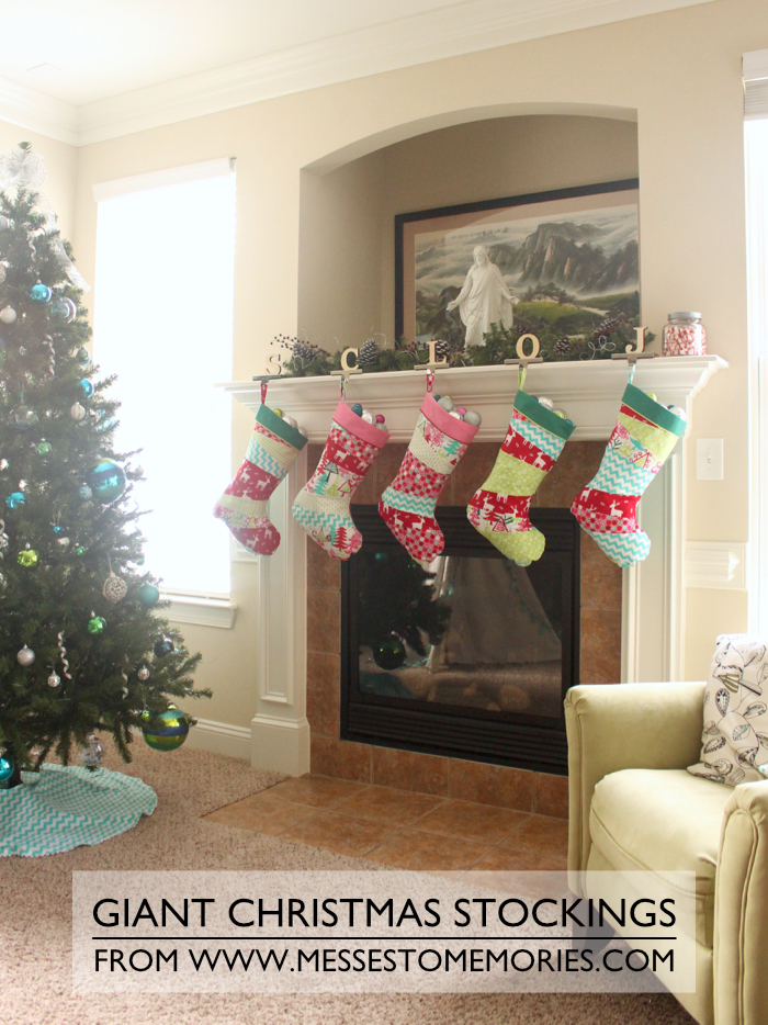 stockings all hung by the chimney with care - Giant Christmas Stocking
