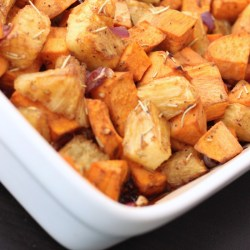 BAKED SWEET POTATO AND PINEAPPLE