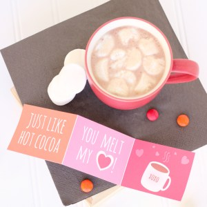 HOT COCOA VALENTINE PRINTABLE
