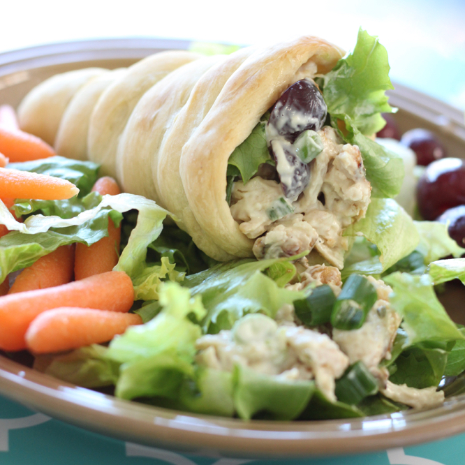 Chicken Salad Rolls--A fresh, easy and fun meal for the kids!