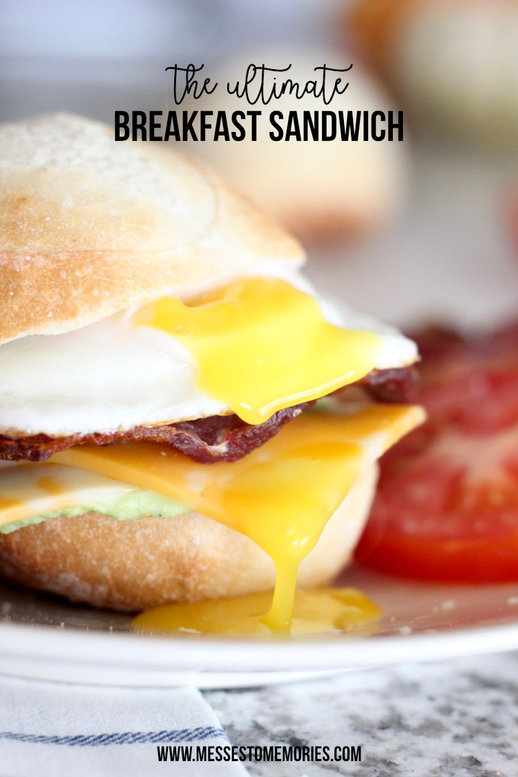 Breakfast Sandwich with Guacamole