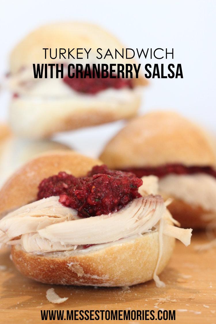 Turkey Sandwich with Cranberry Salsa