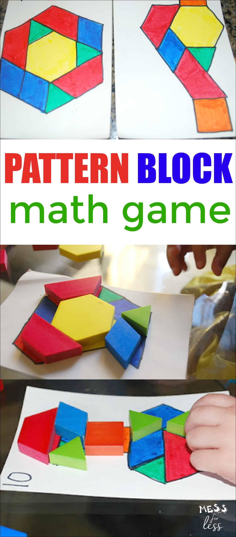 Pattern Block Math Game
