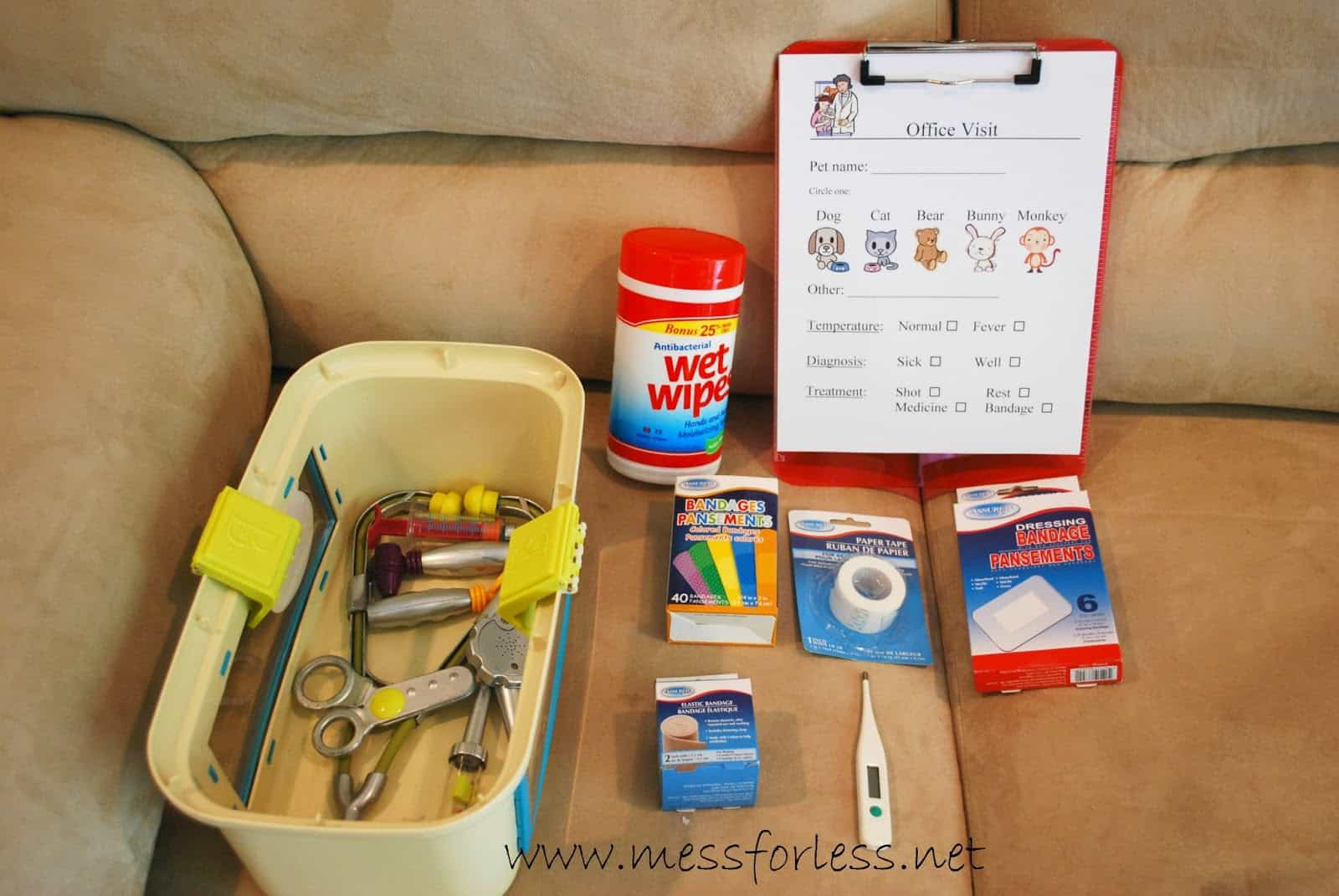 Pretend Play Vet S Office With Free Printable