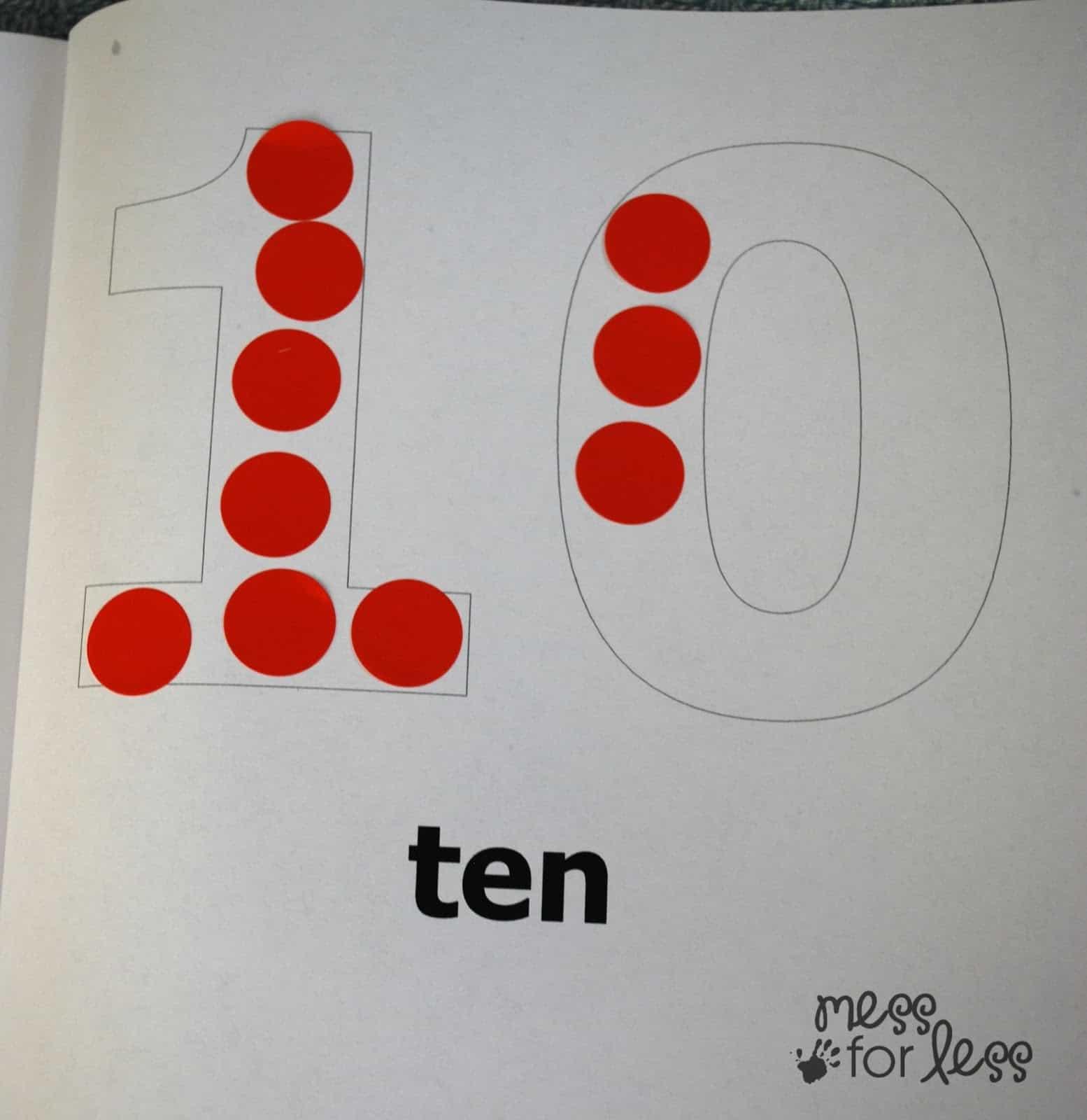Free Math Printables Number Book