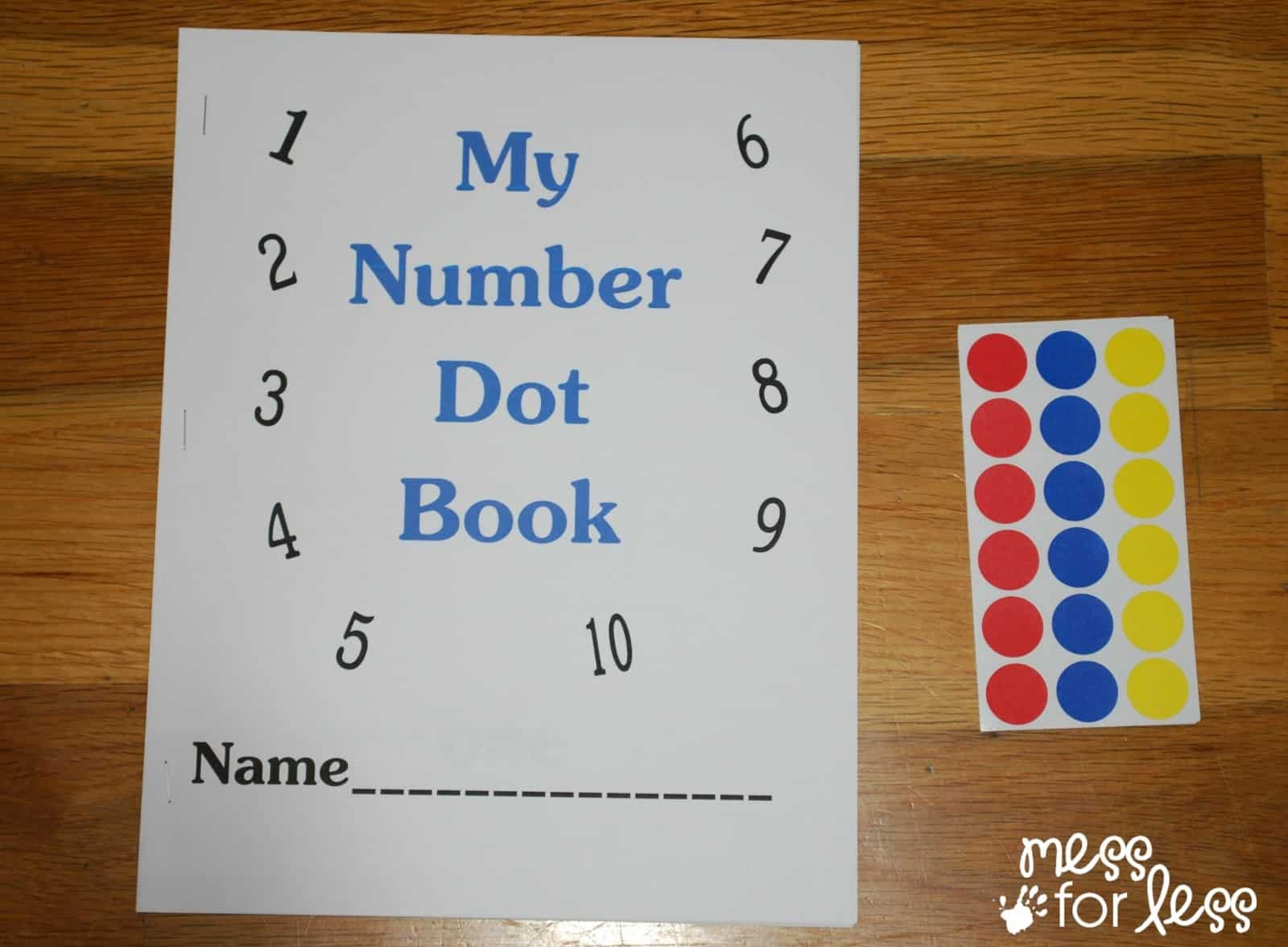 Free Math Printables Number Book