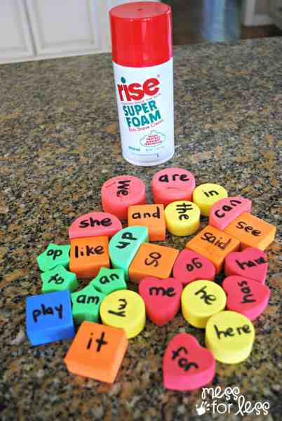 Sensory Sight Word Games   Get Ready for K Through Play   Mess for Less Sight word games