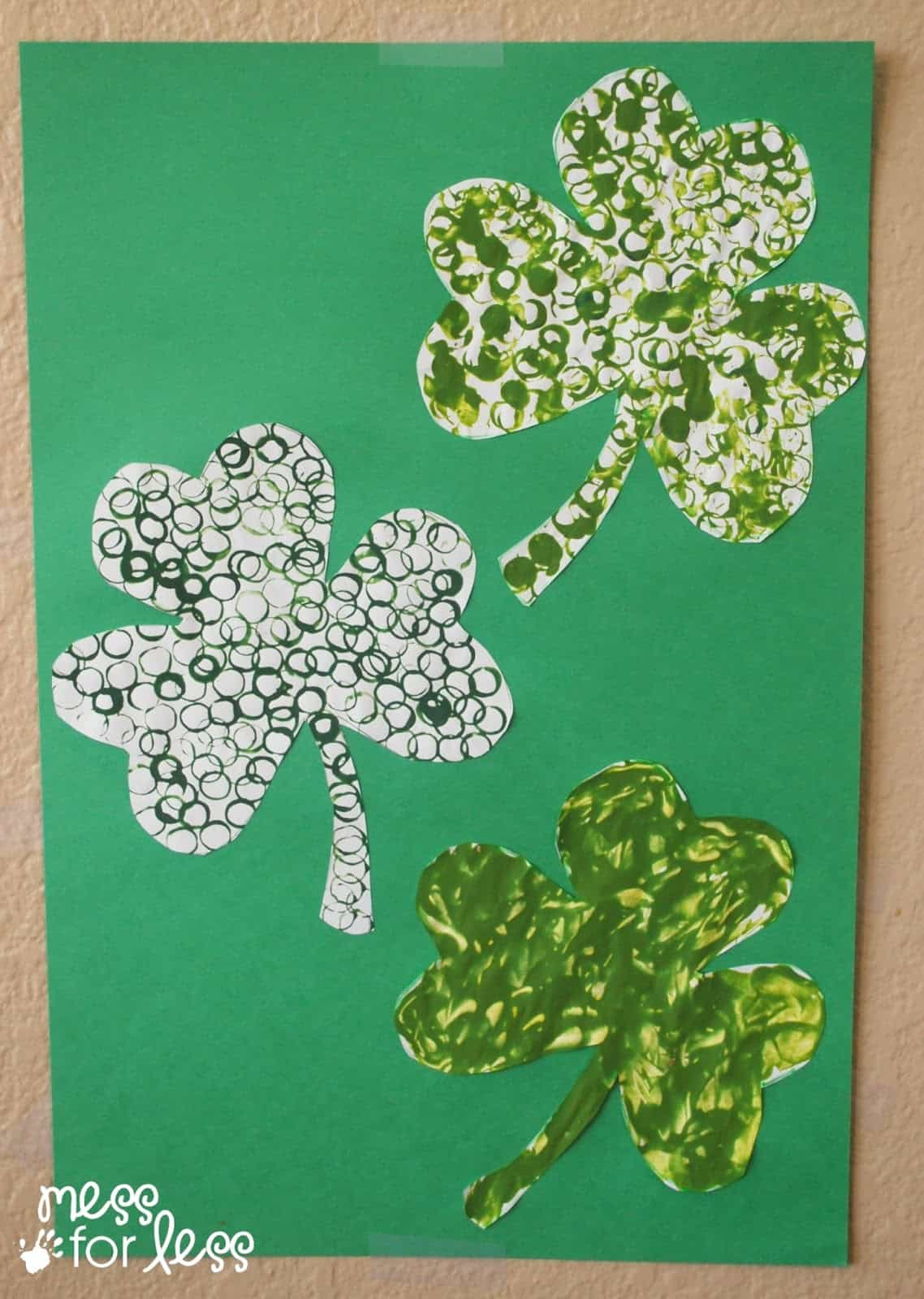 St Patrick S Day Straw Art Activity