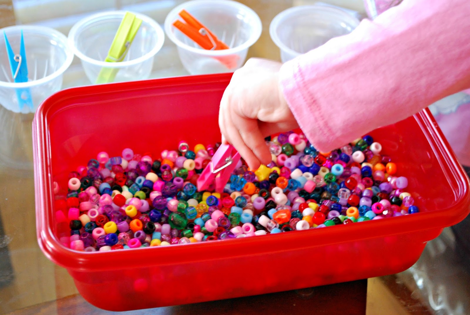 Fine Motor Skills Activity With Beads