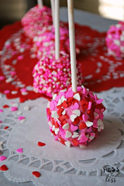 Valentines Brownie Cake Pops Mess For Less