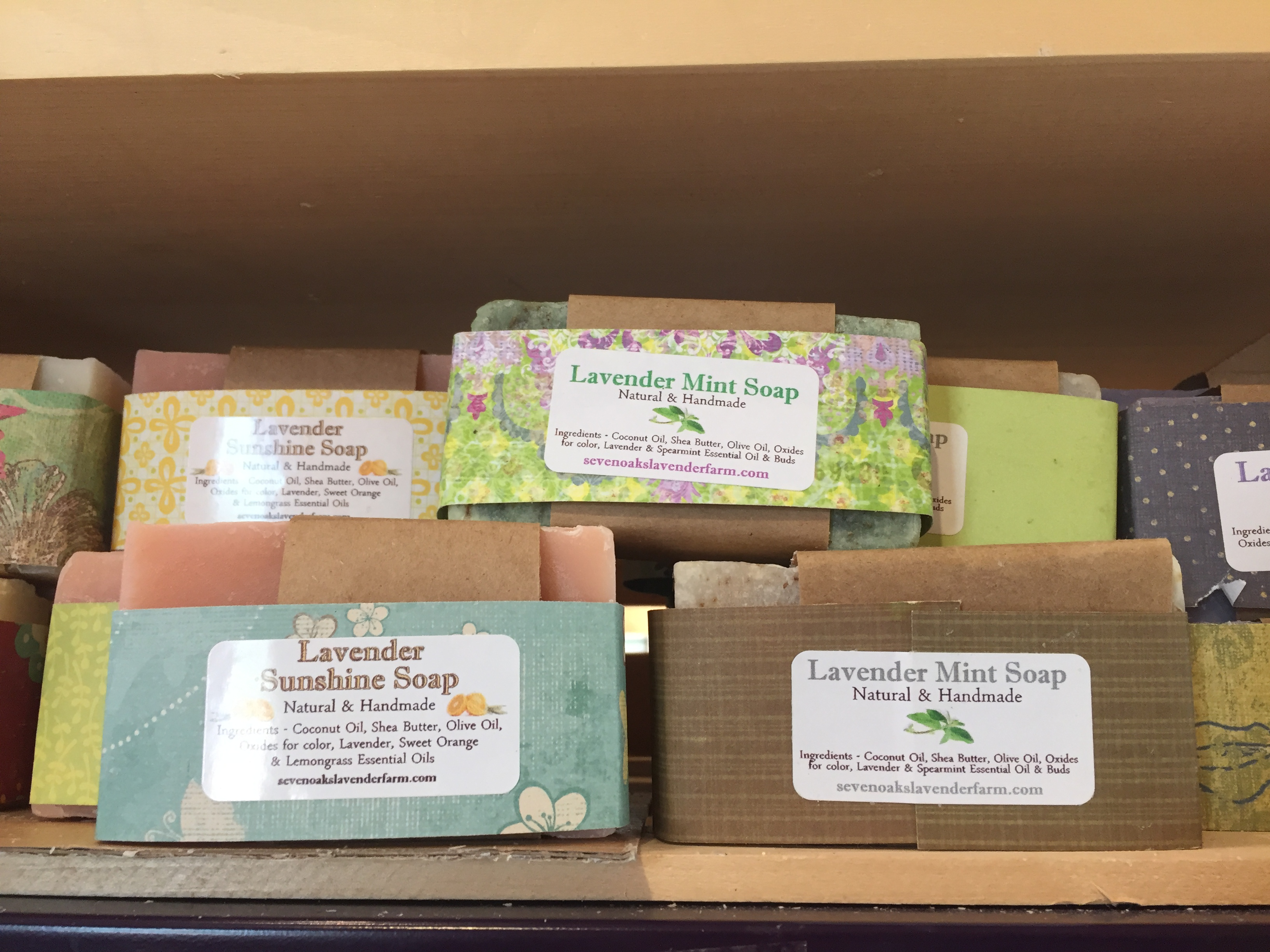 soaps and lotions at messicks farms market